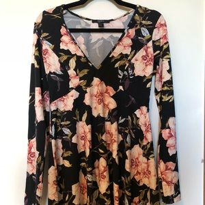 NWOT Floral Fit and Flare Dress